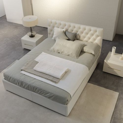 Double Bed Havana Trend Falegnami Contemporary Upholstered With Headboard