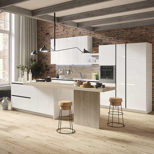 contemporary kitchen / wooden / handleless