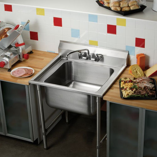 Stainless Steel Kitchen Sink Cabinet Rnsf81182 Elkay With Legs For Commercial Kitchens Commercial