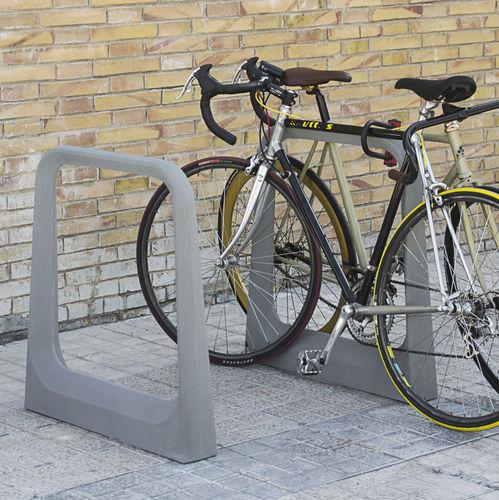fiber-reinforced concrete bike rack / for public spaces
