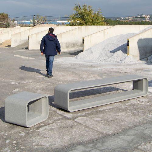 public bench / contemporary / concrete / 100% recyclable