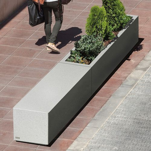 concrete planter / rectangular / modular / contemporary
