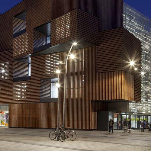 urban lamppost / contemporary / galvanized steel / COR-TEN® steel