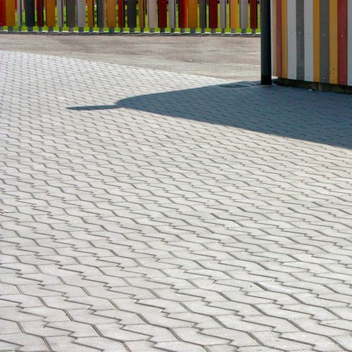 concrete paver / pedestrian / for public spaces / made from recycled materials