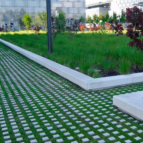concrete grass square