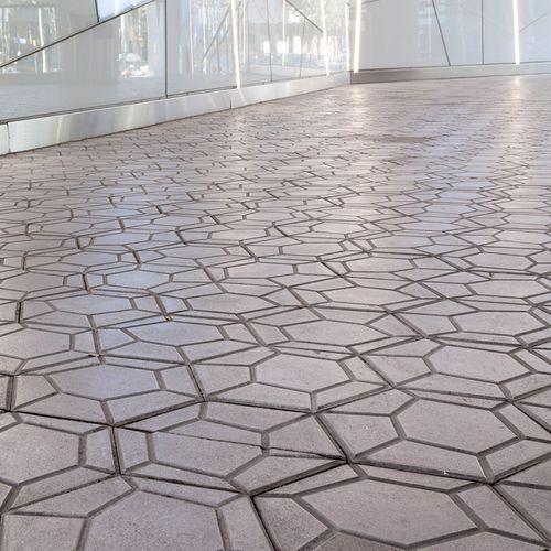 concrete paver / pedestrian / for public spaces / outdoor