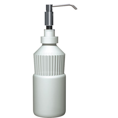 commercial soap dispenser / countertop / plastic / polished stainless steel