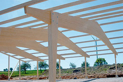 framing wooden truss / commercial