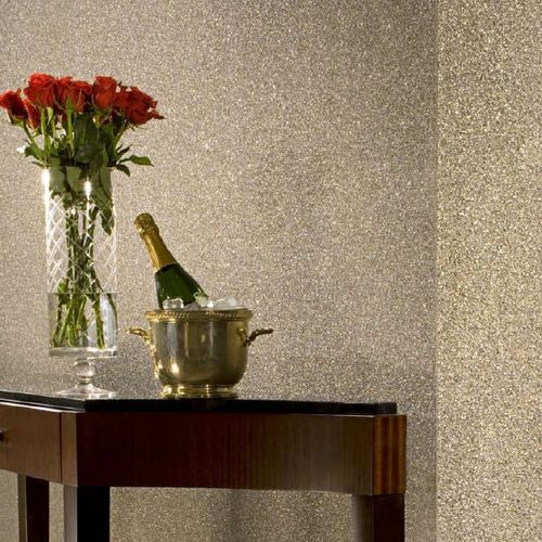contemporary wallpaper / fiberglass / plain / embossed