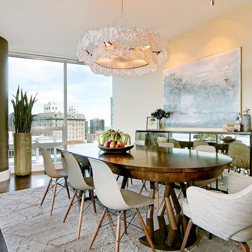 contemporary chandelier / glass / metal / incandescent