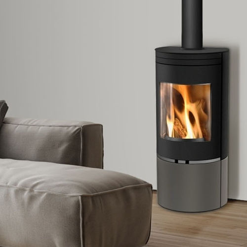 wood heating stove / pellet / contemporary / corner