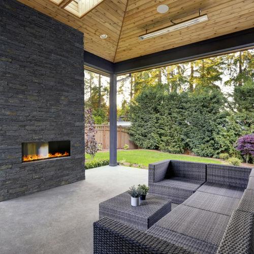natural stone wall cladding panel / indoor / outdoor / natural