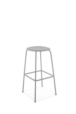 contemporary bar stool / chromed metal / polypropylene / contract