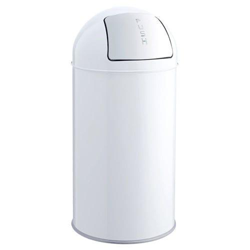 hygienic waste bin / floor-mounted / metal / swing
