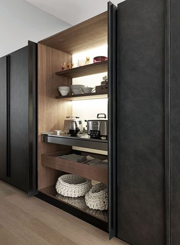 contemporary storage cabinet for kitchen