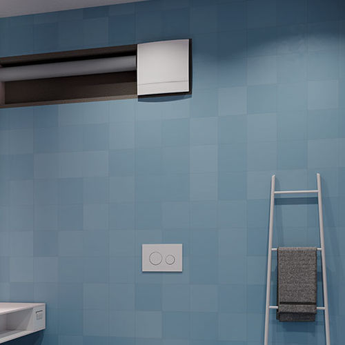 extractor fan / wall-mounted / residential / plastic
