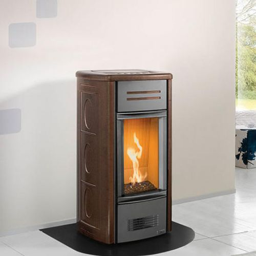 gas heating stove / contemporary / earthenware