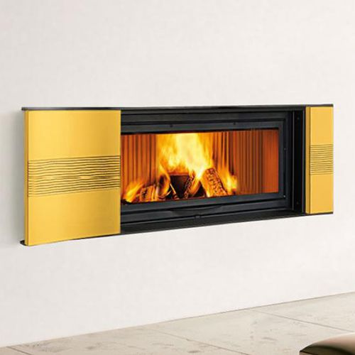 contemporary fireplace surround / earthenware / double-sided