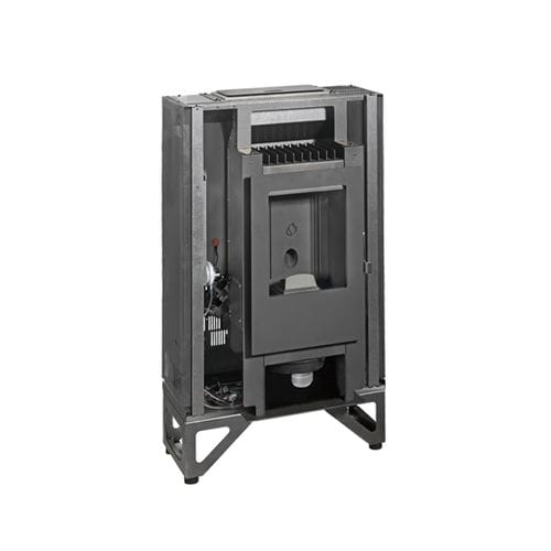 closed pellet hearth / 1-sided / steel / cast iron
