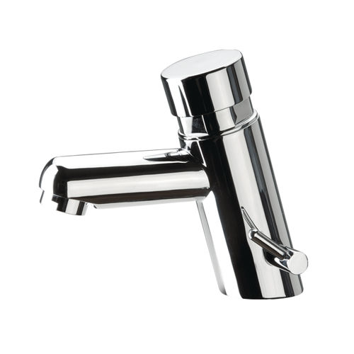 washbasin mixer tap / chrome-plated brass / self-closing / bathroom