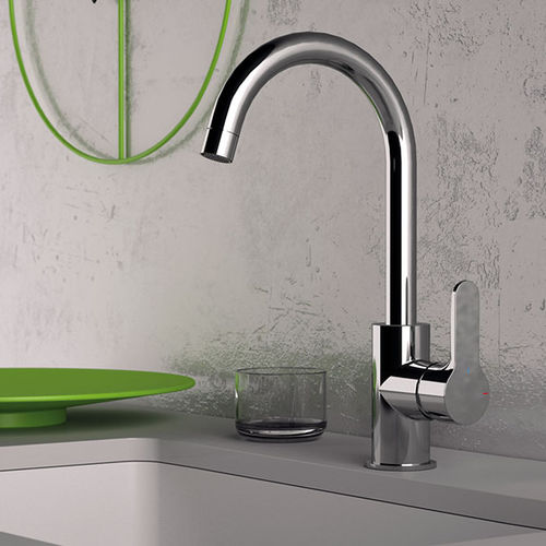 chrome-plated brass mixer tap