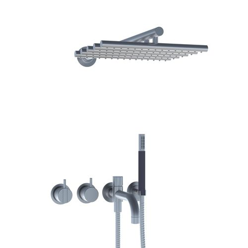 recessed wall shower set