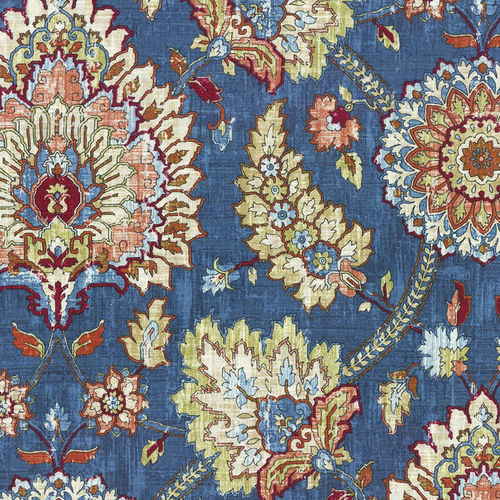 upholstery fabric / floral / linen