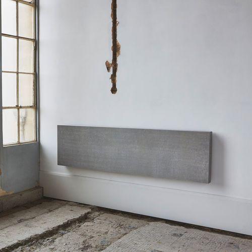 hot water radiator / aluminum / concrete / contemporary