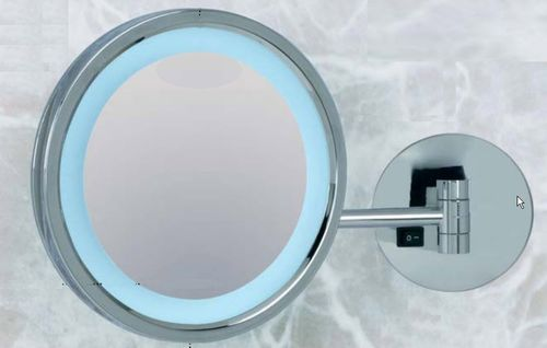 Wall Mounted Bathroom Mirror Kristal Vision 800 O Or 400 Elite Magnifying Led Illuminated Contemporary
