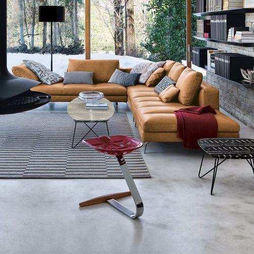 original design stool / beech / chrome steel / with footrest