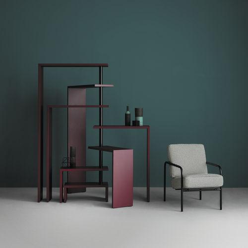original design shelf / lacquered MDF / stainless steel / by Achille Castiglioni