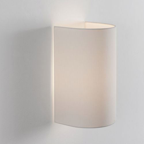 contemporary wall light / linen / LED / compact fluorescent