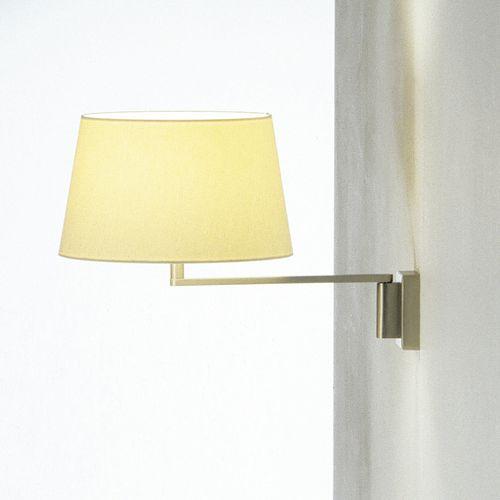 contemporary wall light / metal / linen / LED