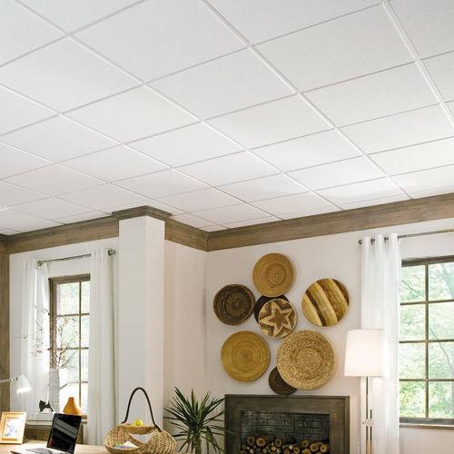 mineral fiber suspended ceiling / tile / acoustic / flame-retardant