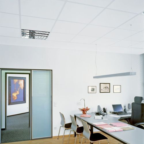 mineral fiber suspended ceiling / tile / acoustic / 100% recyclable