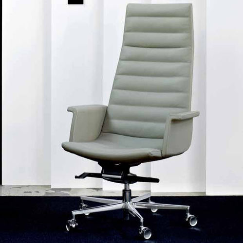 contemporary executive chair / aluminum / swivel / on casters
