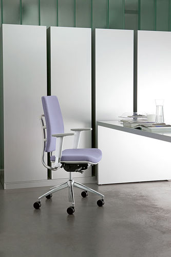 contemporary office armchair / fabric / swivel / on casters