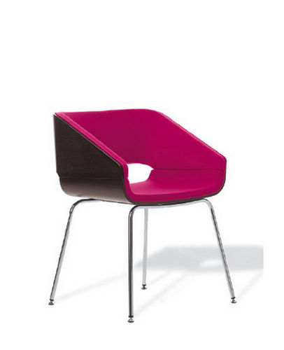 contemporary chair / upholstered / fabric