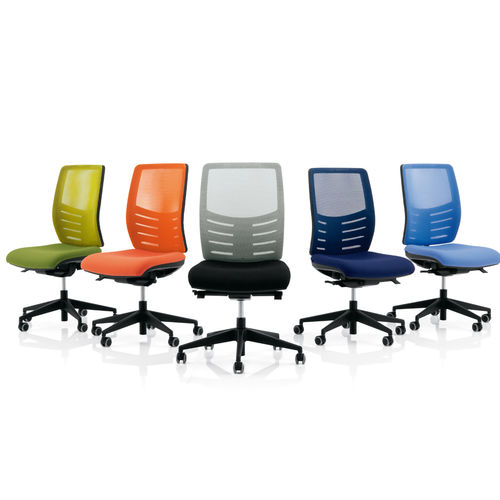 contemporary office armchair / mesh / swivel / on casters