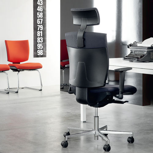 contemporary executive chair / fabric / aluminum / swivel