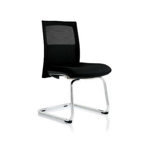 contemporary visitor chair / cantilever / mesh