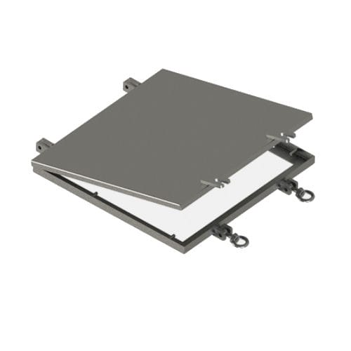 wall access hatch / square / stainless steel