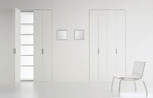 indoor door / folding / wooden / lacquered