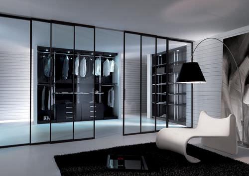 indoor door / for walk-in closet / sliding / aluminum