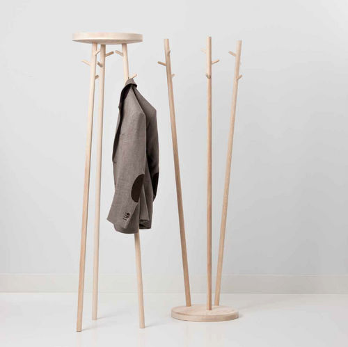 floor coat rack / contemporary / wooden / commercial