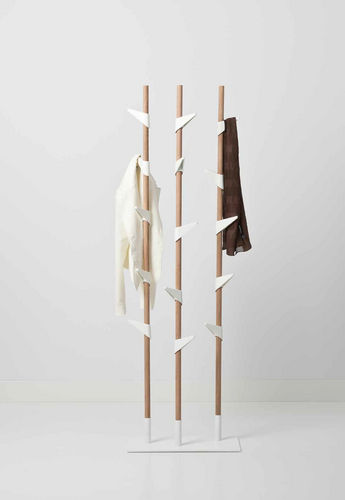 floor coat rack / contemporary / steel / plastic