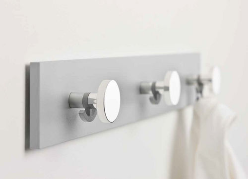 contemporary coat hook / aluminum / triple / commercial
