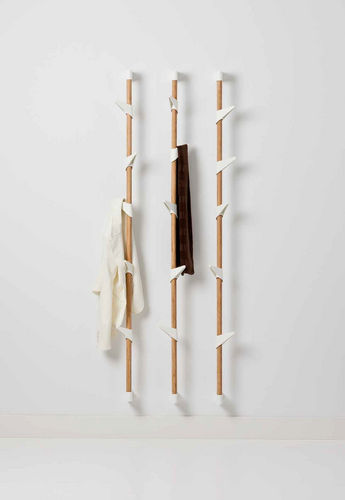 wall-mounted coat rack / contemporary / bamboo