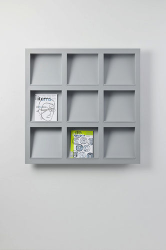 wall-mounted display rack / periodicals / aluminum