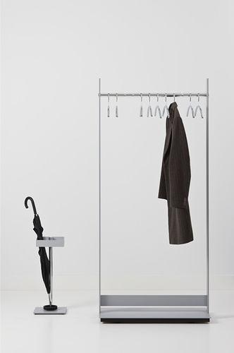 floor coat rack / contemporary / aluminum / commercial